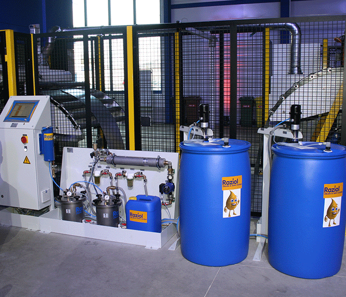 Raziol Basic Line spray lubrication system complements the Schuler servo press system, Lennestadt